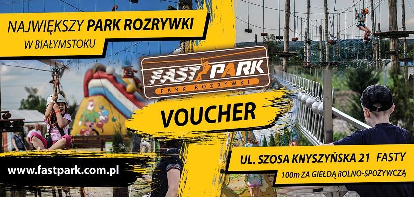 Voucher za Paintball na przejście trasy linowej w parku rozrywki Fastpark w Białymstoku