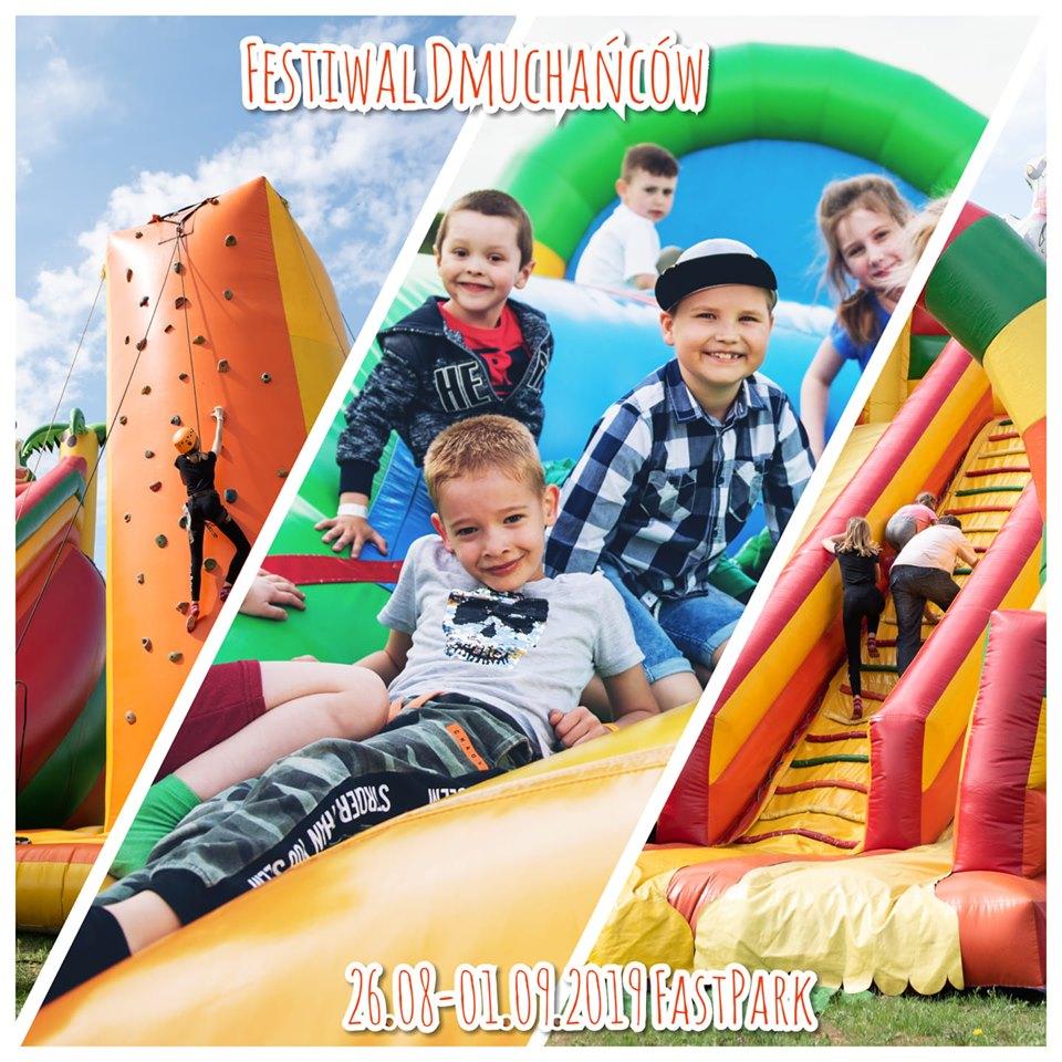 Festiwal Dmuchańców w FastParku - 26.08-01.09.19, 25 dmuchanych urządzeń, impreza na koniec wakacji, rozrywka dla dzieci